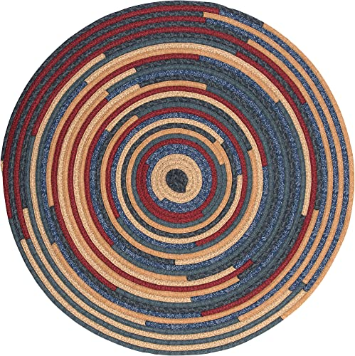 Quilter's Choice Round Braided Rug