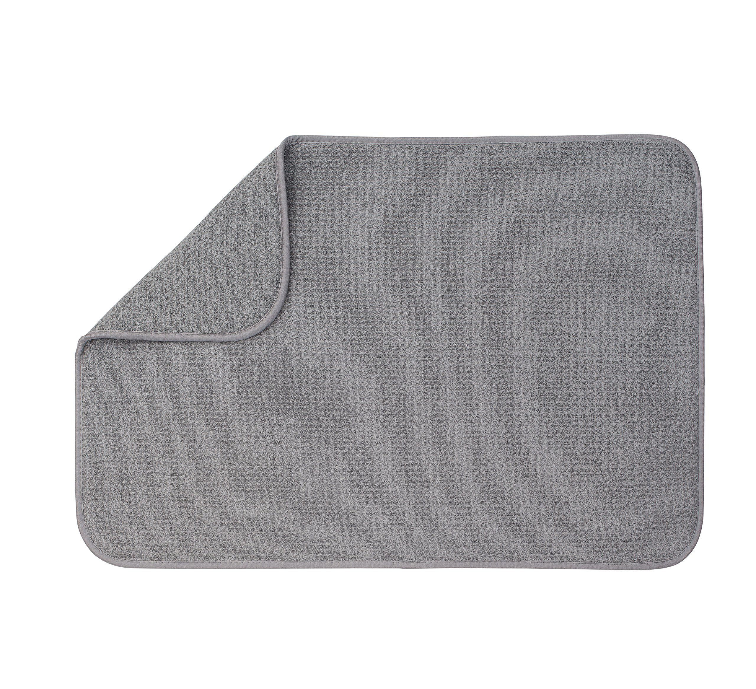 XXL Dish Mat 24'' x 17'' (LARGEST MAT) Microfiber Dish Drying Mat, Super absorbent by Bellemain