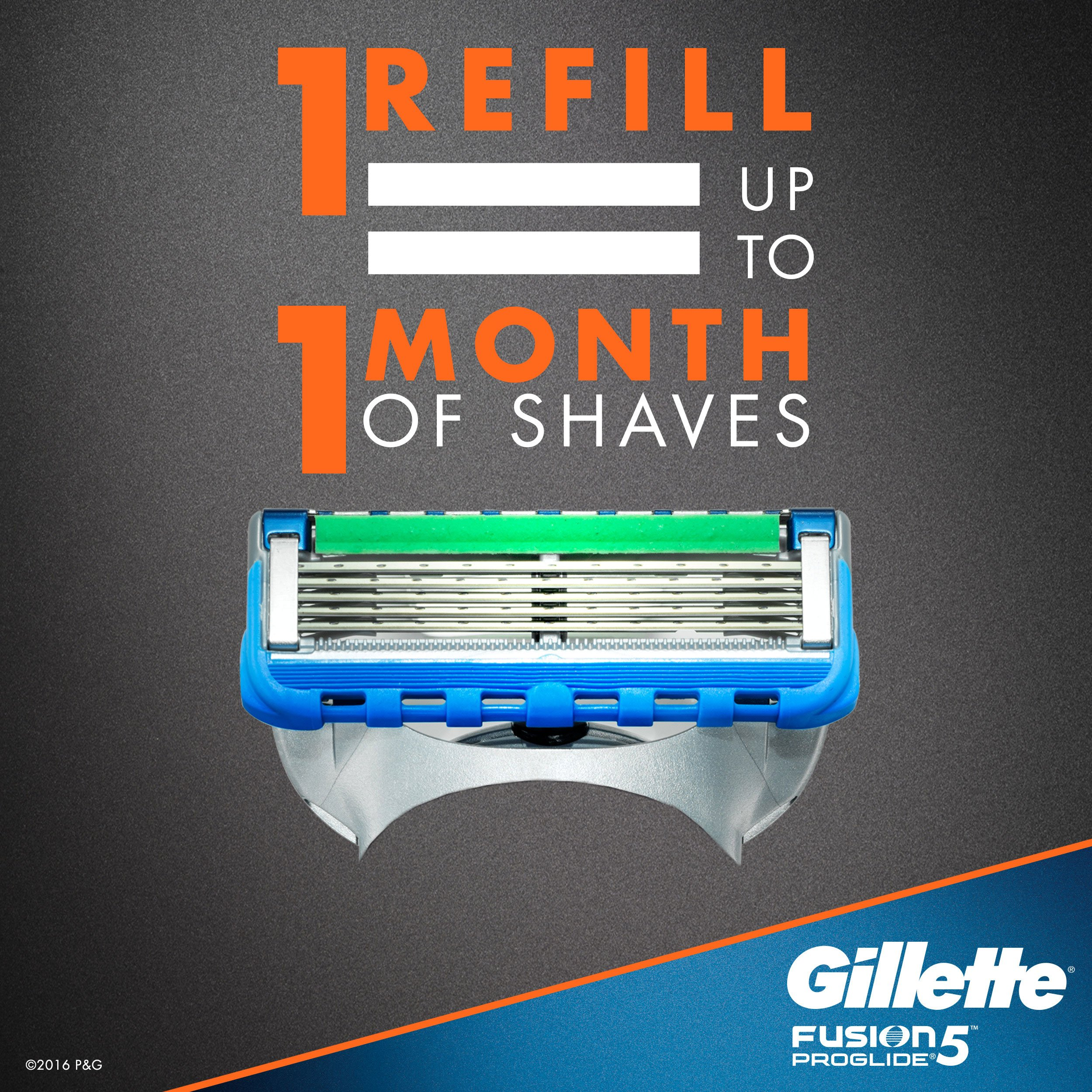 Gillette Fusion5 ProGlide Men's Razor Blades, 12 Blade Refills by Gillette (Image #4)