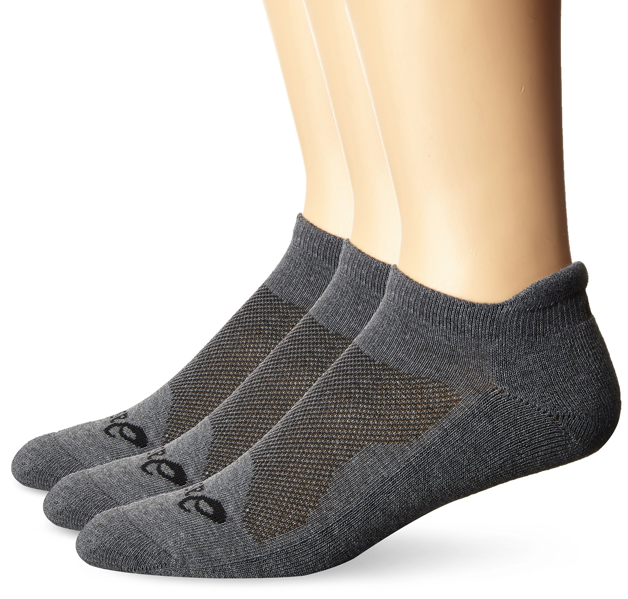 ASICS Cushion Low Cut Socks (Pack of 3), Grey Heather, Medium by ASICS