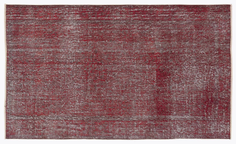 Bespoky ビンテージ 手織 ラグ 赤 小さいサイズ 115 X 192 Cm   B07HKZW3HH
