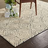 "Rivet Contemporary Diamond Patterned Area Rug, 5'9"" x 3'9"", Grey Ivory"