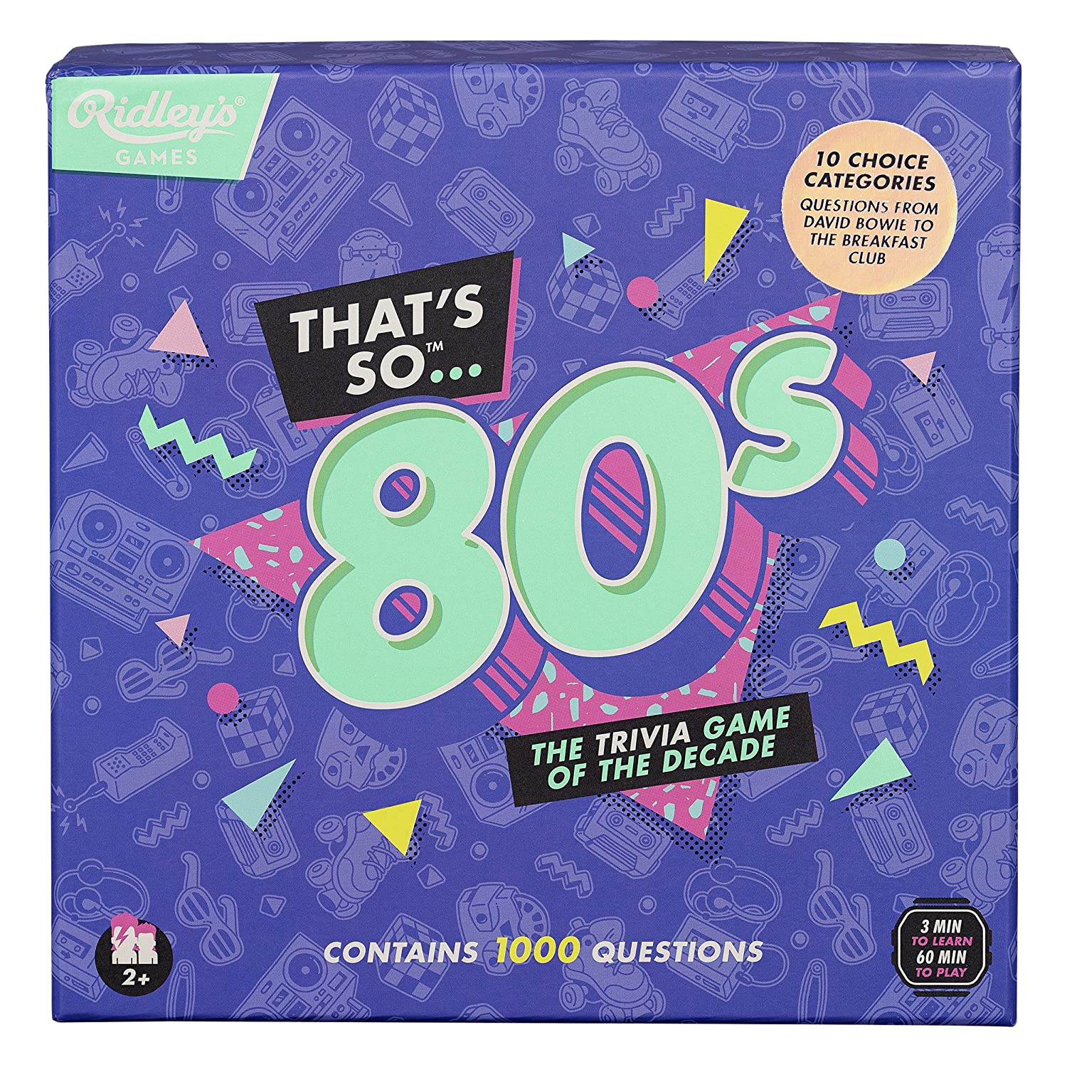 Groups and Parties Ridleys Thats So 80s Team Trivia Set Game for Families