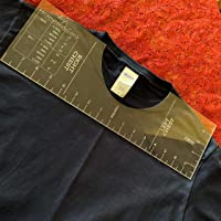T Shirt Ruler Guide For Applying Vinyl and Sublimation Designs On Shirts with Size Chart Built In