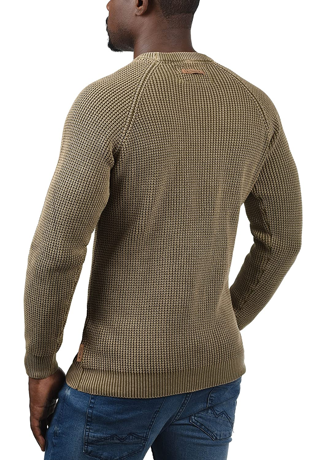 INDICODE Rockford Mens Jumper Chunky Knit Pullover With Crew Neck Made Of 100/% Cotton