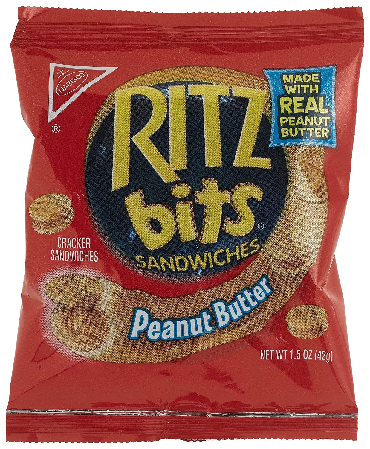 B000YTB1D2 Ritz Bits Peanut Butter Sandwiches, 1.5-Ounce Single-Serve Packages (Pack of 60) A1BXuAf5xpS