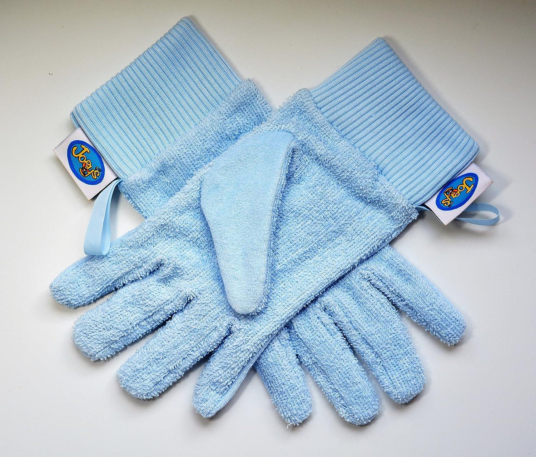 Flannel Fingers Bath Gloves (Large, Pink) Award Winning Joeys Innovations Ltd