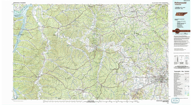 Hohenwald Tennessee Map.Amazon Com Yellowmaps Hohenwald Tn Topo Map 1 100000 Scale 30 X