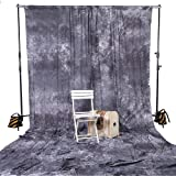 Square Perfect 8043 10 x 20 Inches Backdrop Muslin Photo Background Photography, Gray