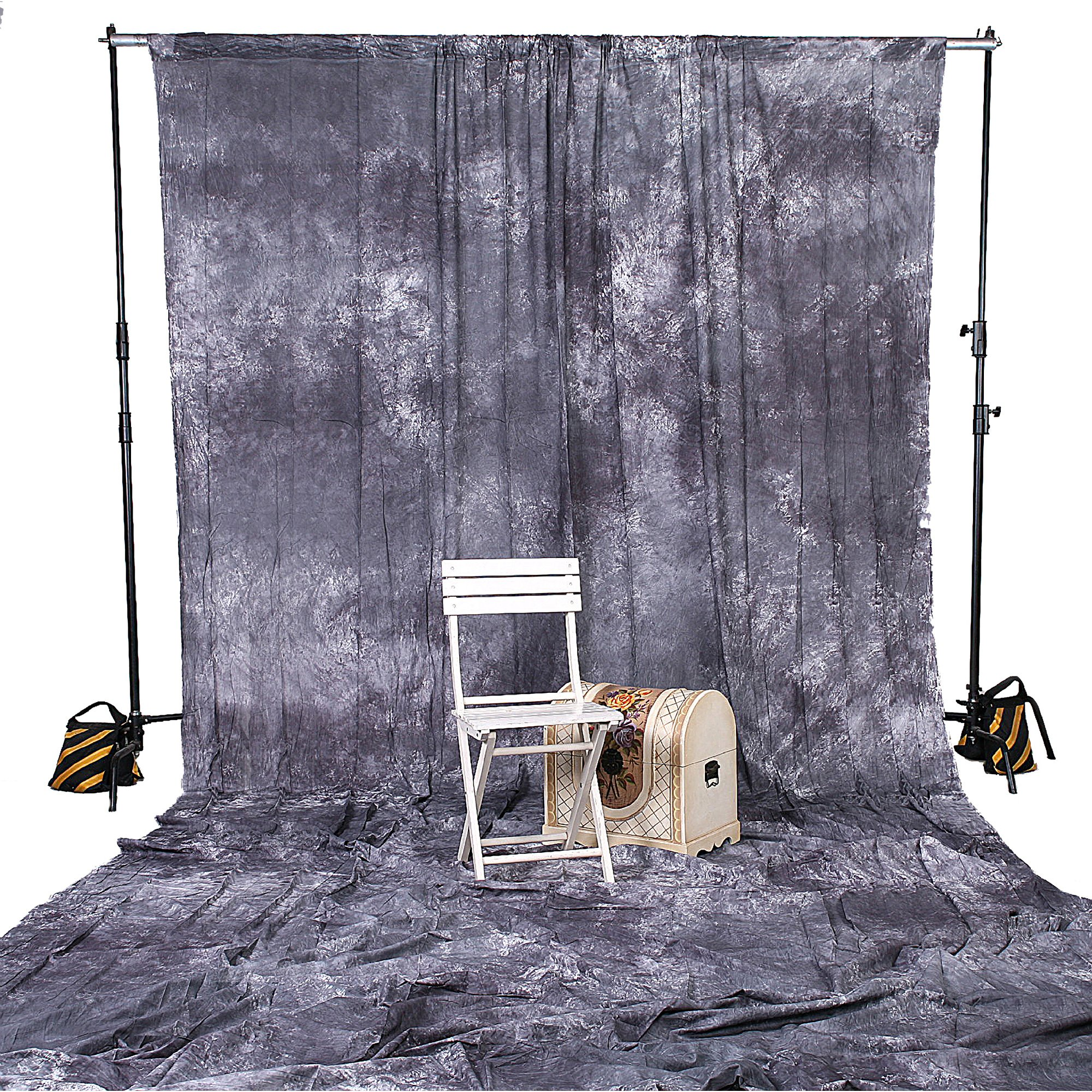 8043 10X20 Gray Backdrop Muslin Photo Background Photography Grey Studio Cloth by SQUARE PERFECT