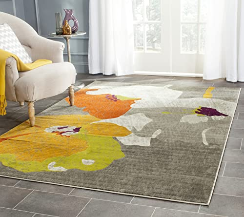 Safavieh Porcello Collection PRL7731D Dark Grey and Ivory Area Rug 6 x 9