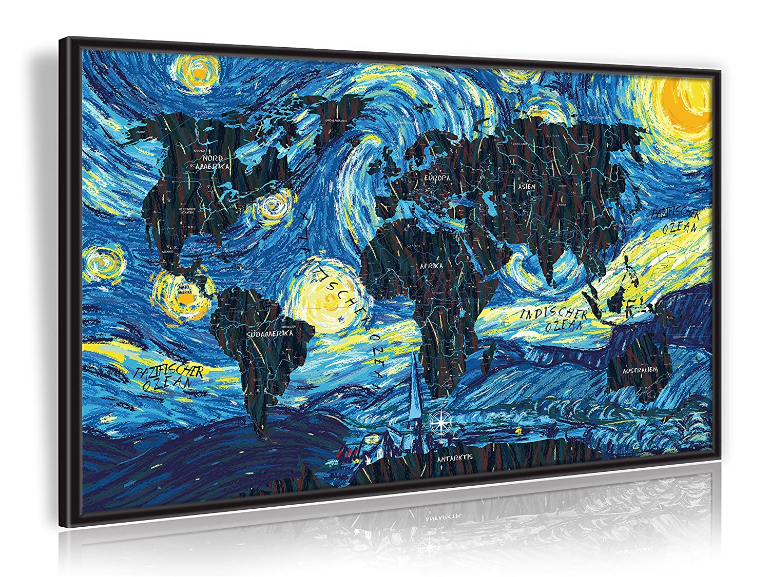Amazon.de: PinnArt Vincent van Gogh - The Starry Night - Art-Design ...