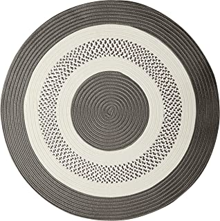 product image for Crescent Round Area Rug, 10-Feet, Gray
