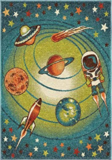 """product image for Orian Rugs Kids Court Galaxy Area Rug, 5'2"""" x 7'6"""", Blue"""