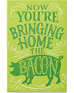 Amazon congrats on your new fancy job motivational american greetings funny bacon new job congratulations card with flocking m4hsunfo