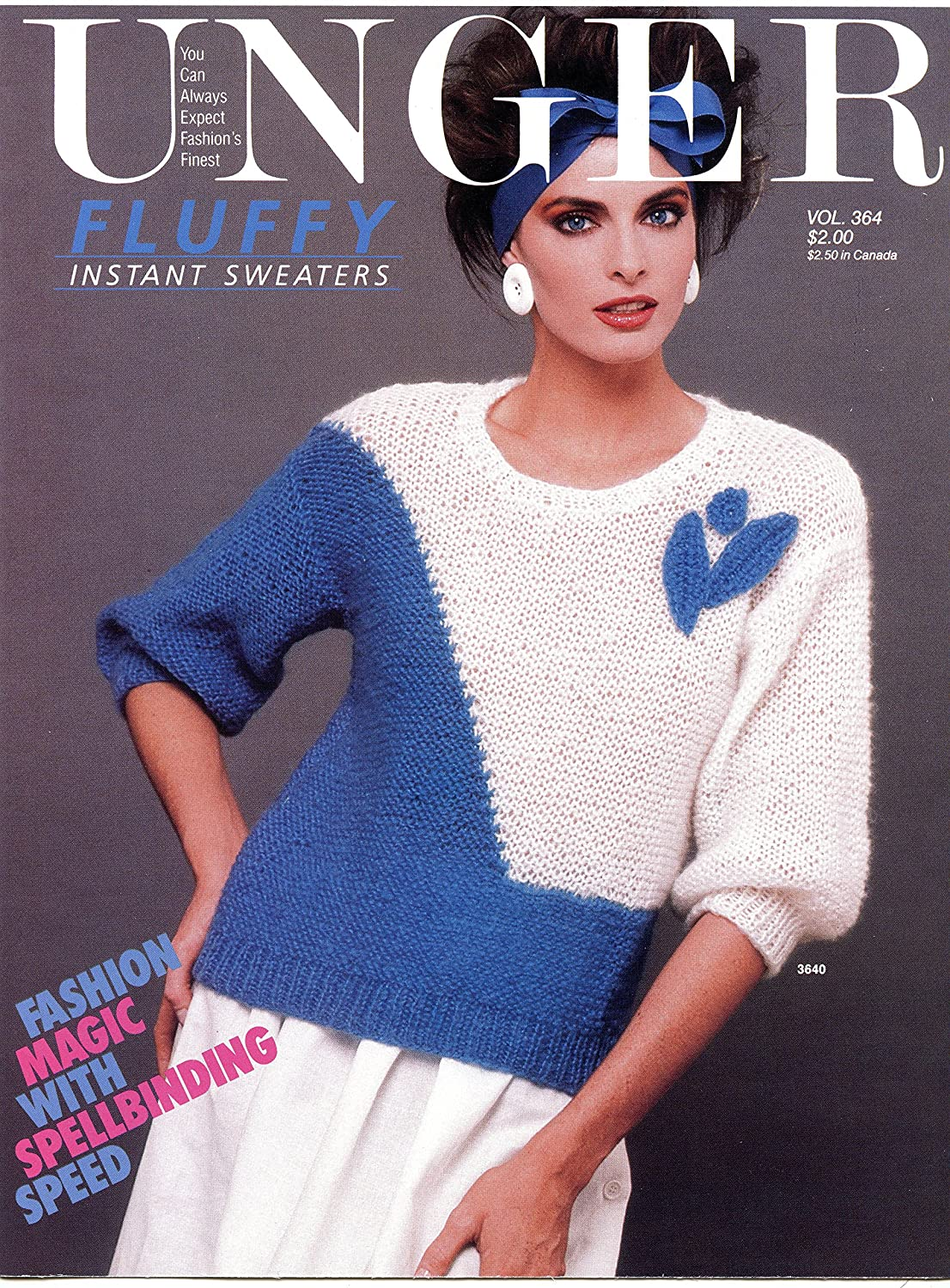 Amazon Com Unger Fluffy Instant Sweaters Vol 364 Pattern Leaflet