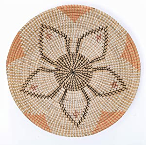 """Artera Wicker Wall Basket Decor - Hanging Woven Seagrass Flat Baskets, Round Boho Wall Basket Decor for Living Room or Bedroom, Unique Wall Art. (22"""" Round, 22"""" Round - Style 3)"""