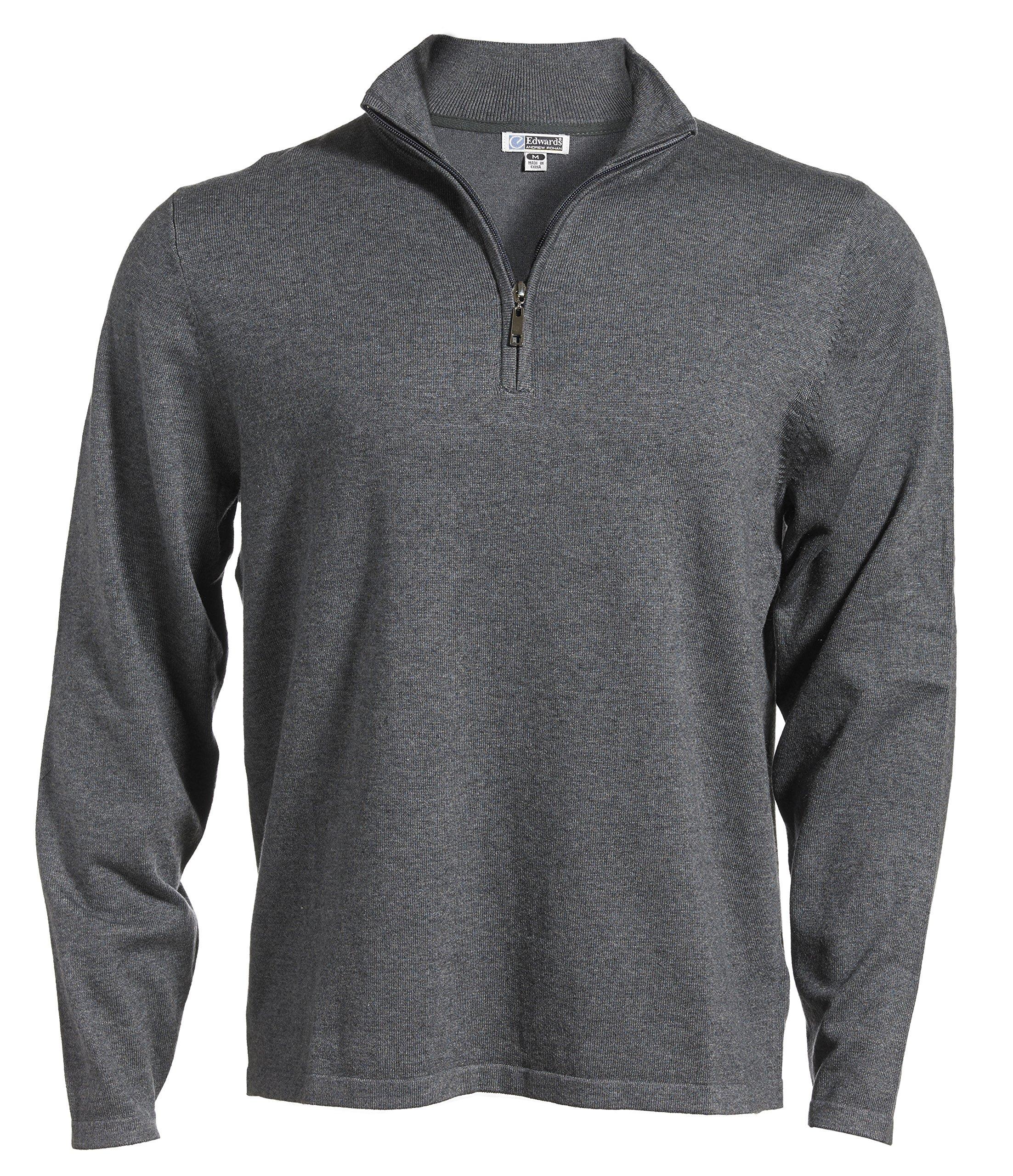 Averill's Sharper Uniforms Men's Fine Gauge Quarter Zipper Sweater 5XL Smoke Heather
