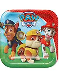 American Greetings Paw Patrol Party Supplies, Disposable Paper Dessert Plate, 8-Count
