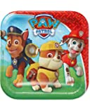 """Paw Patrol Square Plate, 7"""", Party Favor"""