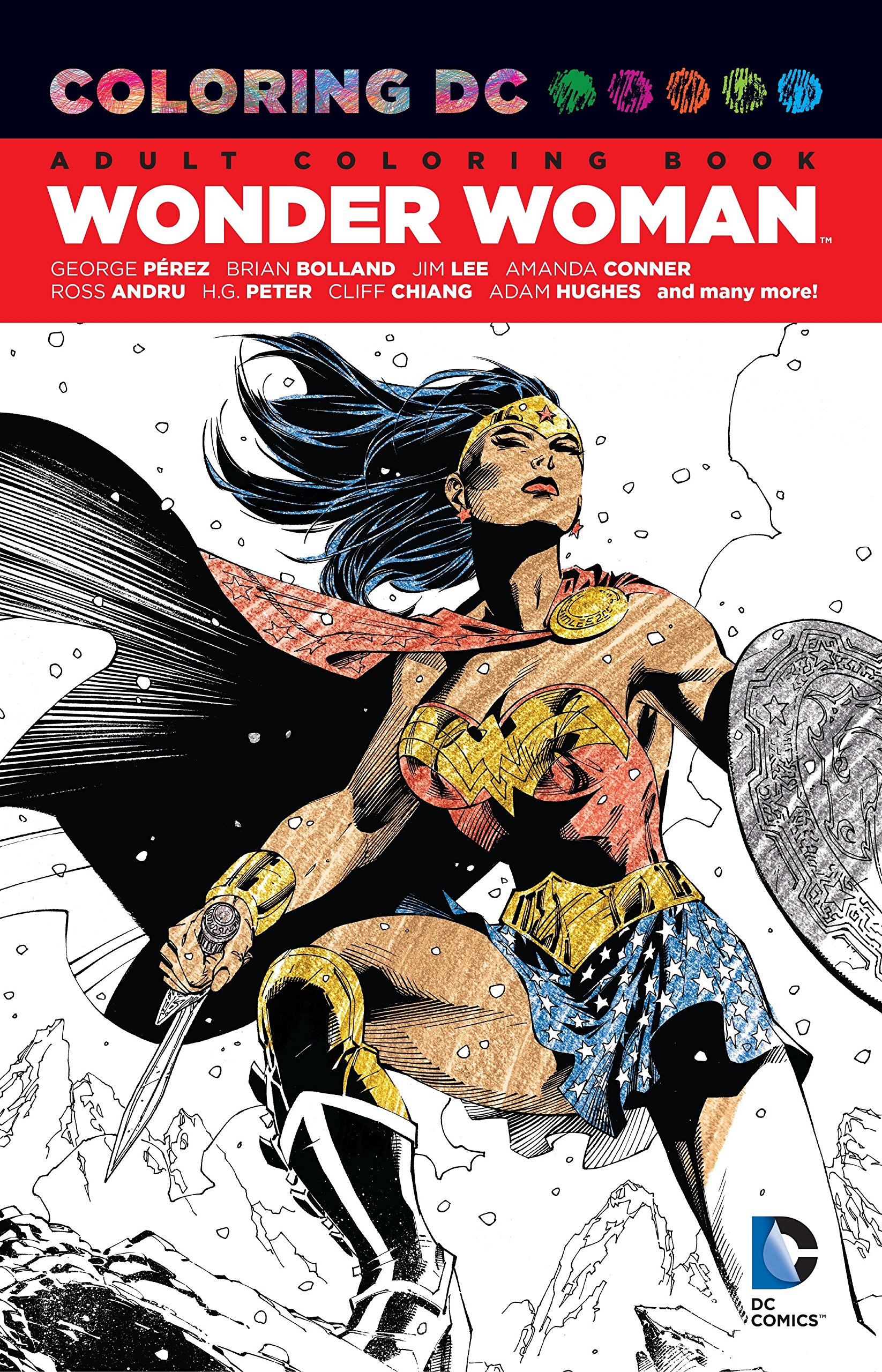 Amazon Com Coloring Dc Wonder Woman 9781401267292 Various Various Books
