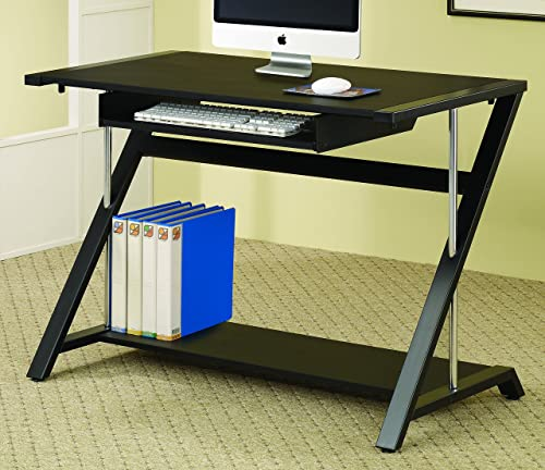 Coaster Home Furnishings Computer Desk with Bottom Shelf Black