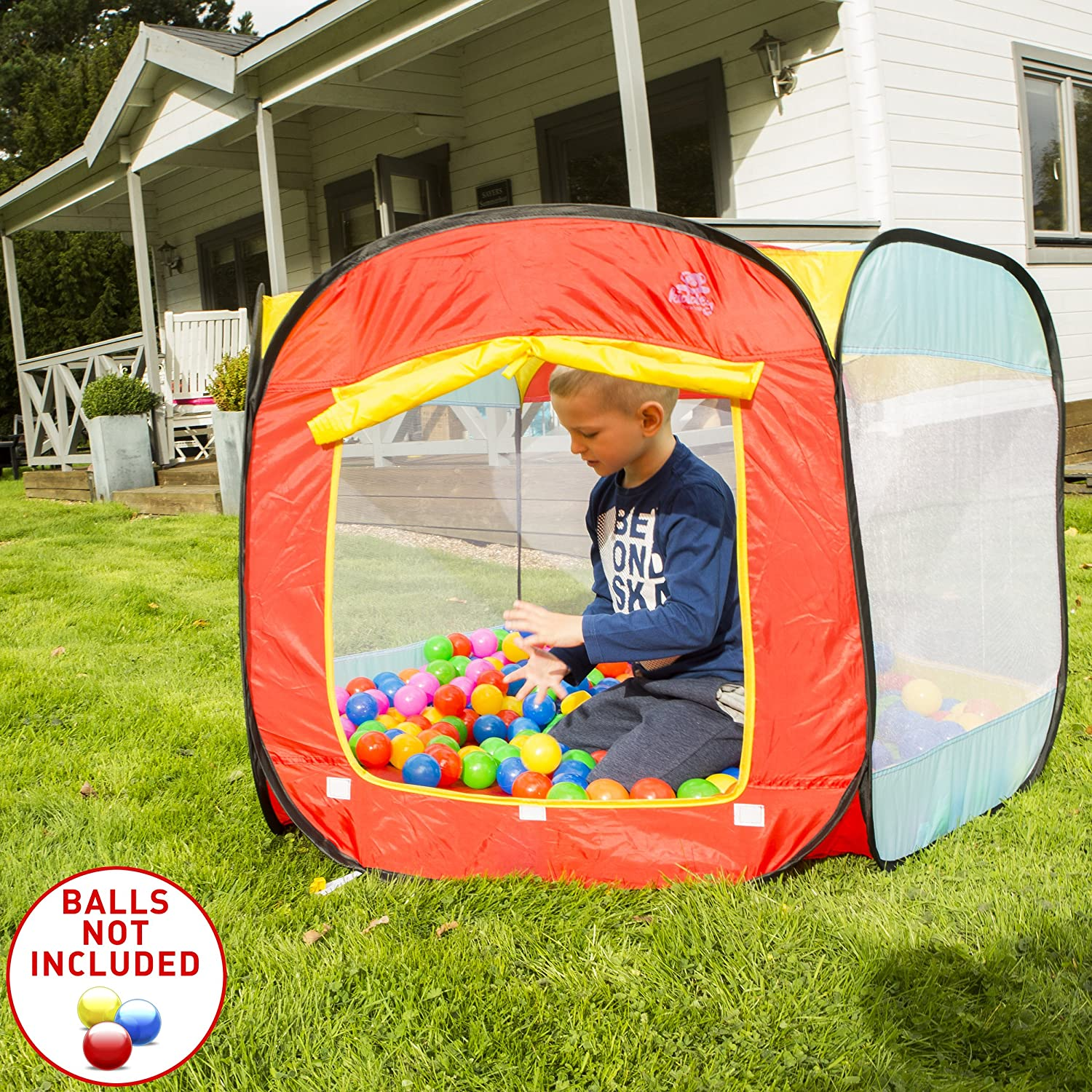 cf96263058e6 ... Ball Pit Play Tent for Kids - 6-Sided Ball Pit for Kids Toddlers and  Baby - Fill with Plastic Balls (Balls Not Included) or Use As an Indoor /  Outdoor ...