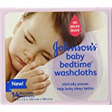 Johnson's Baby Bedtime Disposable Washcloths, 14 Count