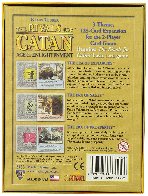 Rivals For Catan: Age Of Enlightenment Expansion - Juego de cartas, 2 jugadores (Mayfair Games MFG3133) [Importado de Inglaterra]