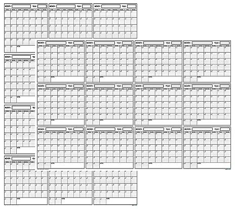 12 month wall calendar poster