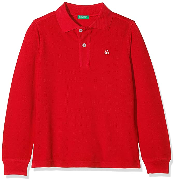 United Colors of Benetton 3089C3090 Polo, Rojo (Red 015), 110 ...