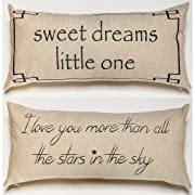 Evelyn Hope Collection Sweet Dreams Baby Nursery Gift-Throw Pillow