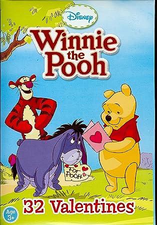Winnie The Pooh Valentines (32 In 8 Styles)