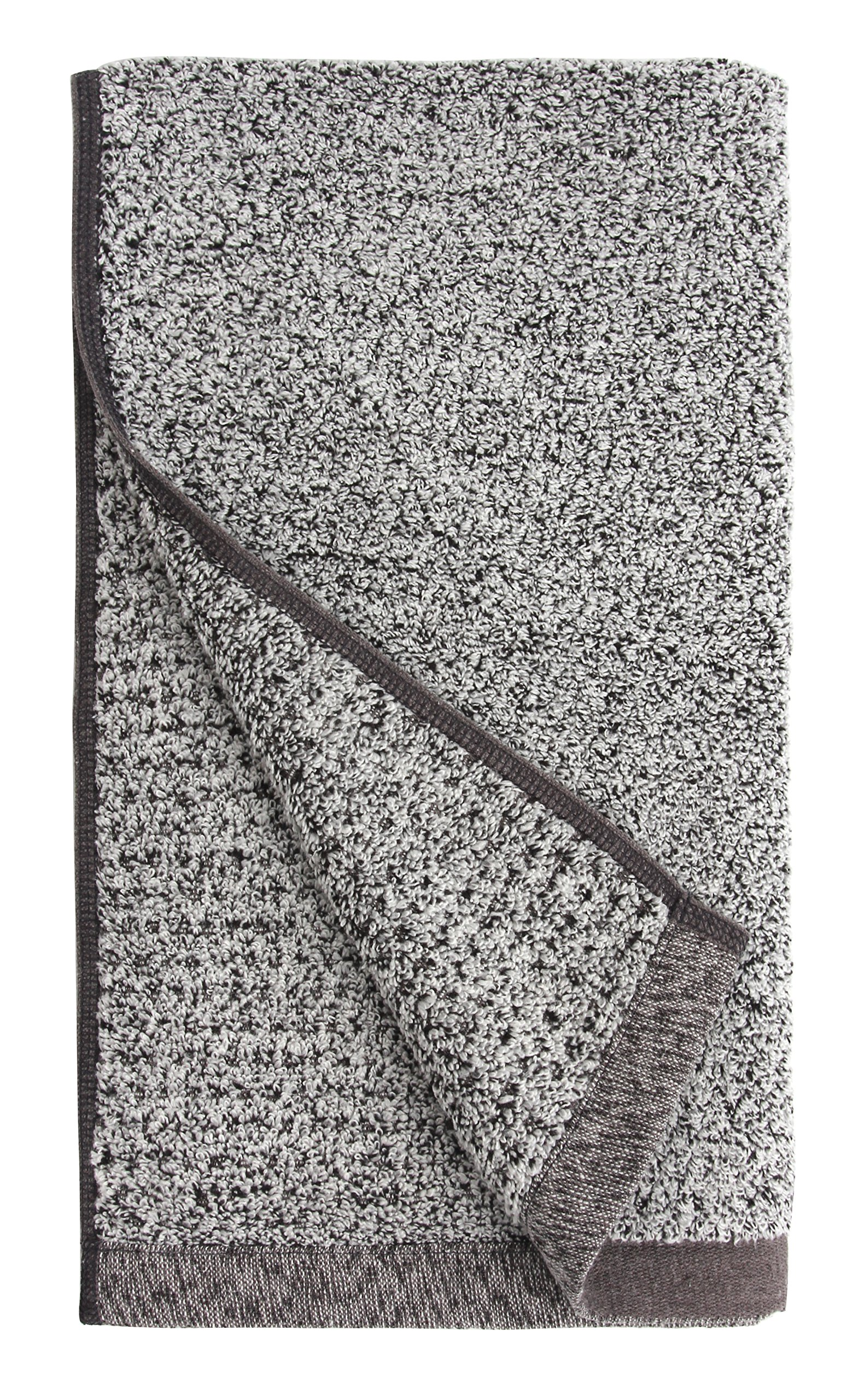 Everplush 710-01-03-72-4P Diamond Jacquard Quick Dry Hand Towel Set, 16'' x 30'', Gray