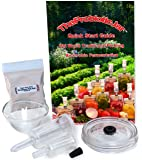 The Probiotic Jar(tm) Lid Kit and Quick Start Guide to Old World Traditional Pickling and Anaerobic Fermentation