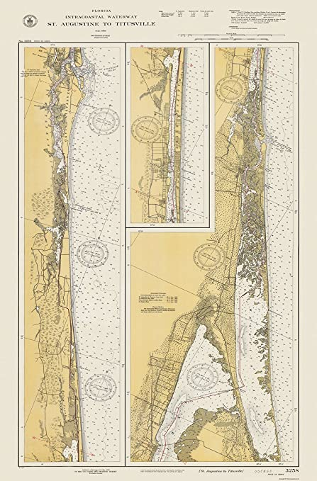 Amazon.com: Old State Map - Florida Intracoastal Waterway ...