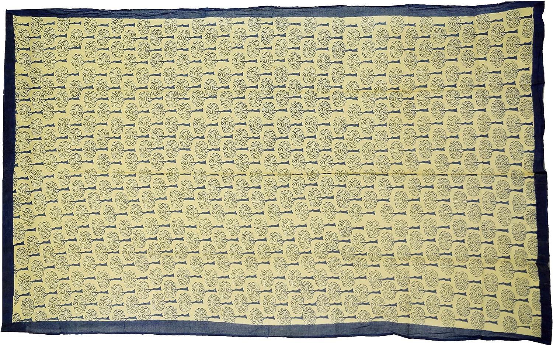 Guru-Shop Gonna a Portafoglio Abito da Sarong Blu Panni Stampati Panno Sottile Dimensione Indumenti:One Size Cotone Pareo Appeso al Muro