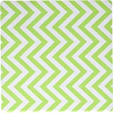 3dRose LLC 8 x 8 x 0.25 Inches Mouse Pad, Chevron, Light Lime Green (mp_163957_1)