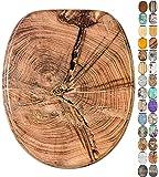 Abattant WC frein de chute soft close - Grande sélection de abattants wc en bois - Finition de haute qualité (Vieil arbre)