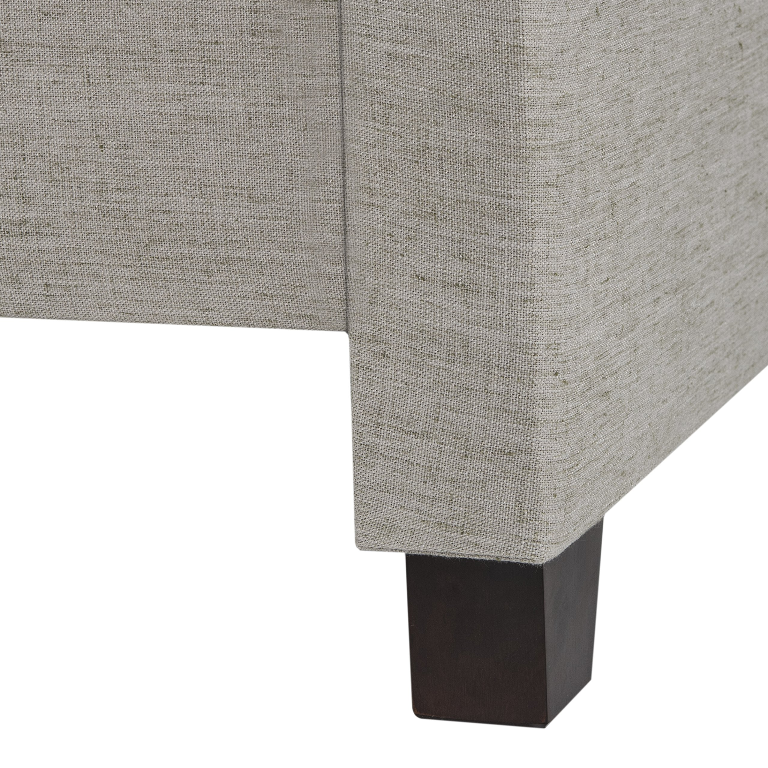 Safavieh Home Collection Theron Light Grey & Espresso Bed, Queen by Safavieh (Image #1)