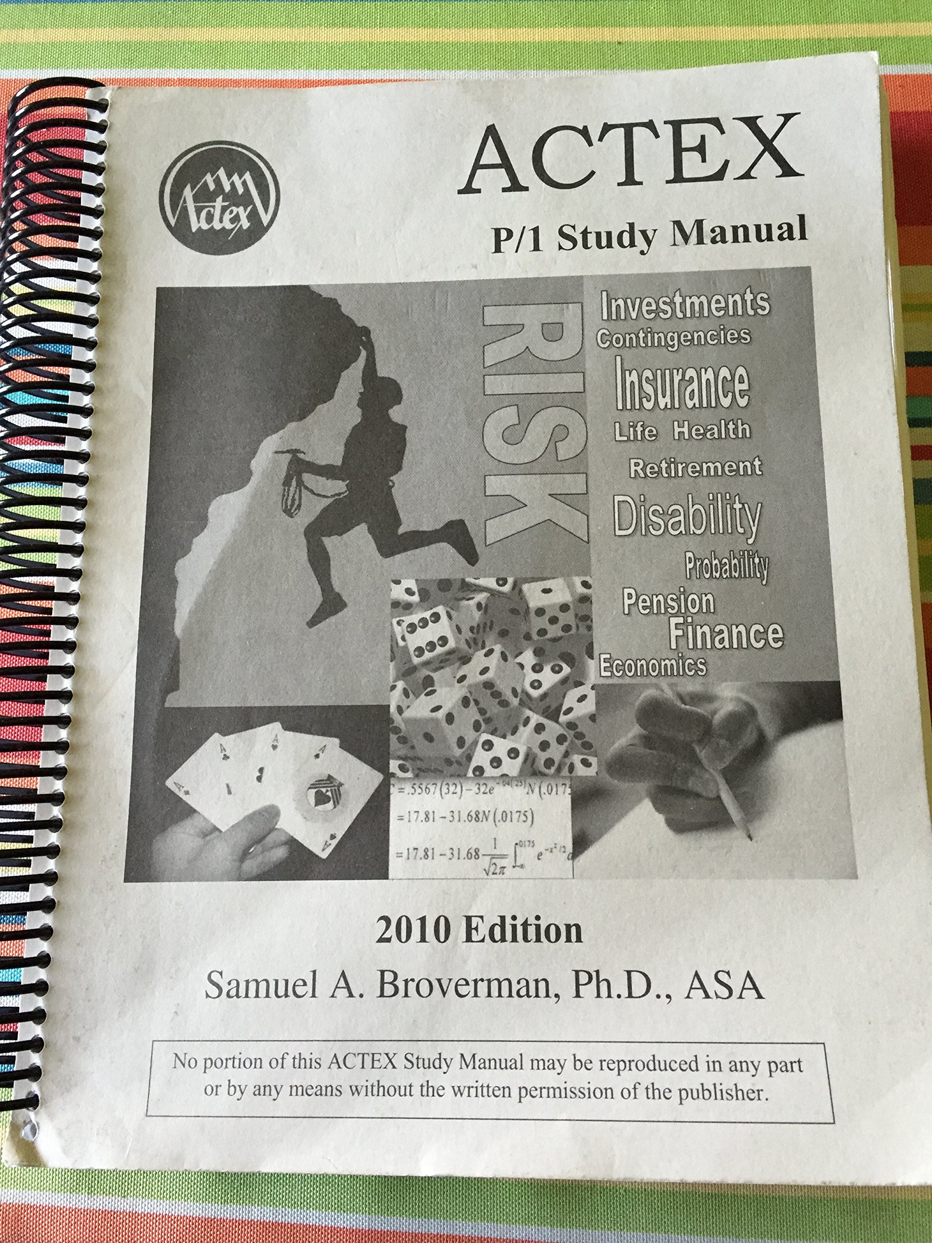 Actex study manual soa exam p cas exam 1 2010 edition spiral actex study manual soa exam p cas exam 1 2010 edition spiral bound phd asa samuel a broverman 9781566987455 amazon books fandeluxe