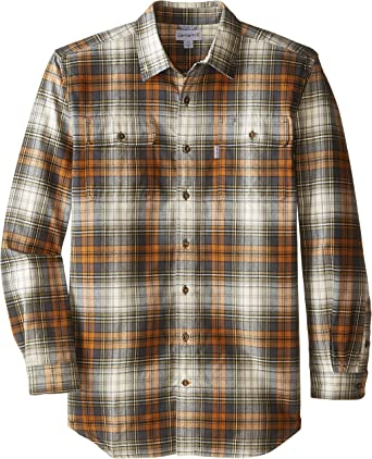 Carhartt Mens Rugged Flex Hamilton Plaid Flannel Shirt Regular and Big /& Tall Sizes