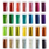 Extra Fine Glitter Set for Crafts, Slime, Nail, Body Art, 28 pack