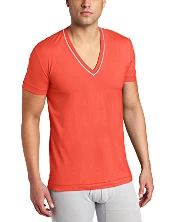 a98f78891 C-IN2 Men's Pop Color Deep V-Neck Tee at Amazon Men's Clothing store ...