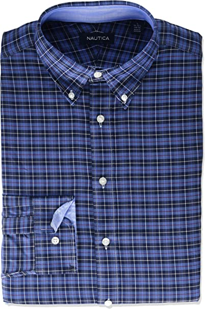 Nautica Mens Classic Fit Solid Flannel Shirt