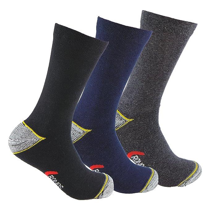 Calcetines de TRABAJO (3 pares) con talón y puntera reforzados, ideal para usar