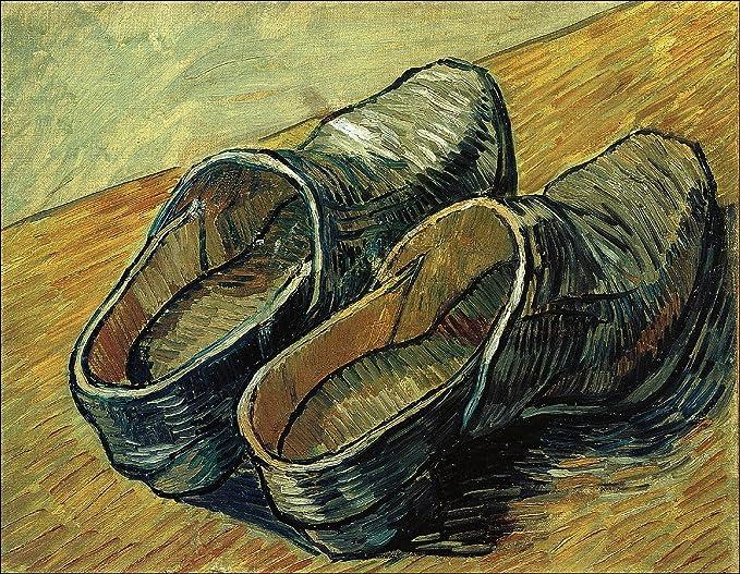 Vincent Gogh's Sprin Van Shoesleather ClogsFrom 1889Photograph PikZuTlwXO