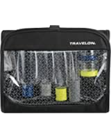 Travelon Women's Trifold Wet/Dry Quart Bag with Bottles