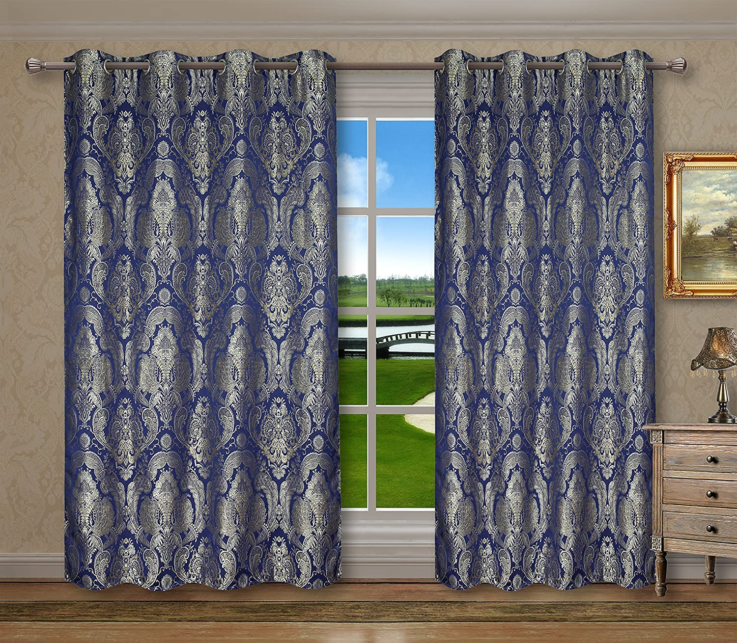 CaliTime Supersoft Grommets Window Curtains Panels for Bedroom