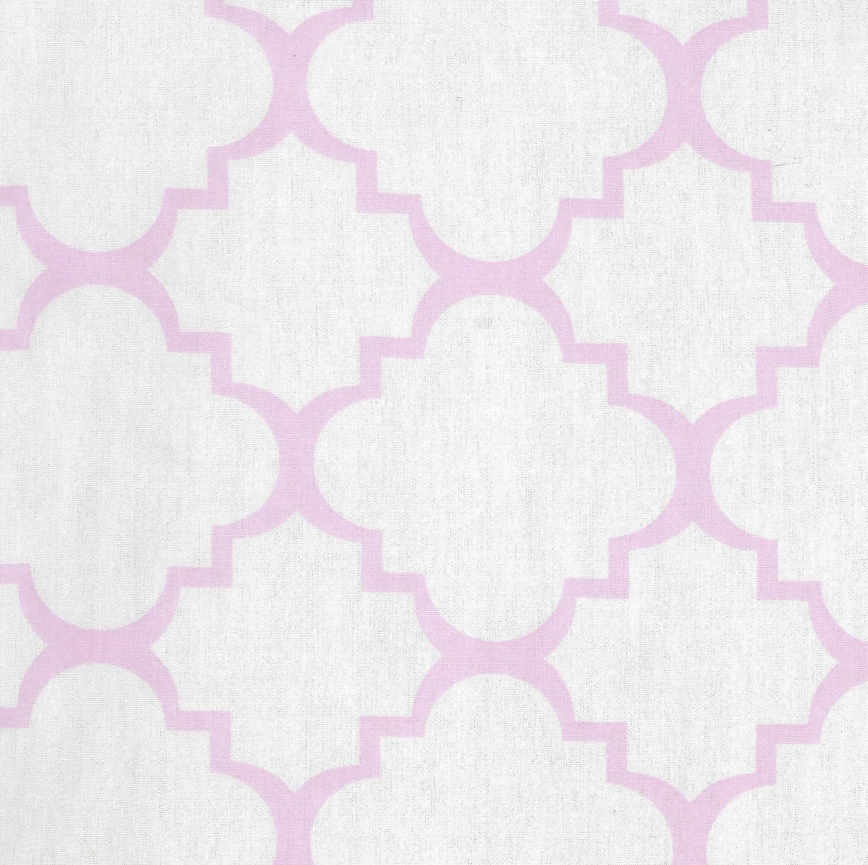 Purple Trend Lab Orchid Bloom Quatrefoil Changing Pad Cover